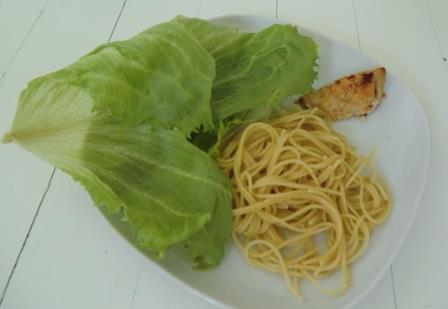 Isbergssallad 40 gram, Kyckling bit 40 gram